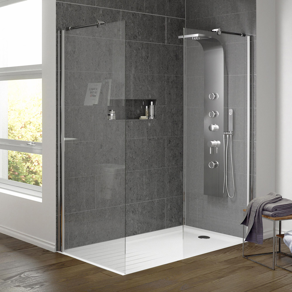 Hudson Reed 1950mm Wet Room Screen - Various Sizes Profile Large Image
