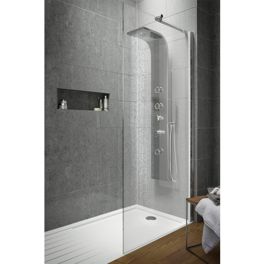Hudson Reed 1950mm Wet Room Screen - Various Sizes Large Image