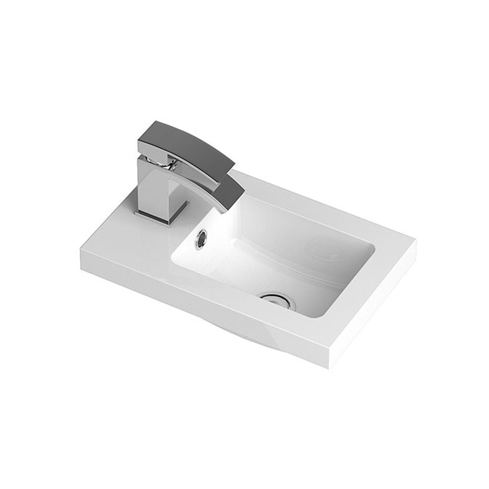 Hudson Reed 400 x 255mm Compact Polymarble Basin 1TH