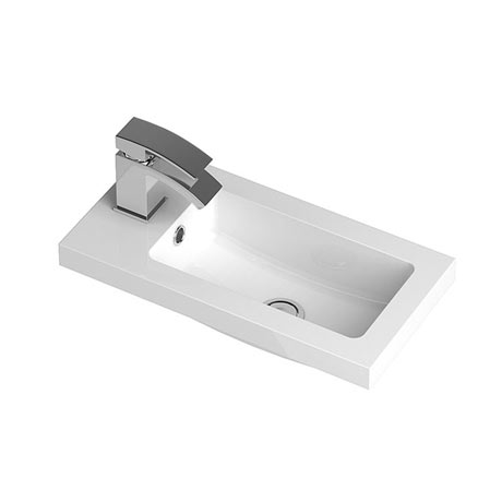 Hudson Reed 500 x 255mm Compact Polymarble Basin 1TH