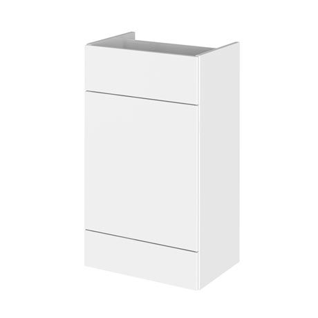 Hudson Reed 500x355mm Gloss White Full Depth WC Unit