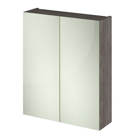 Hudson Reed 600mm Grey Avola 50/50 Mirror Unit