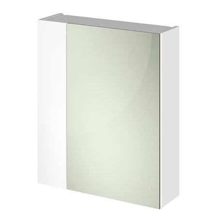 Hudson Reed 600mm White Gloss 75/25 Mirror Unit