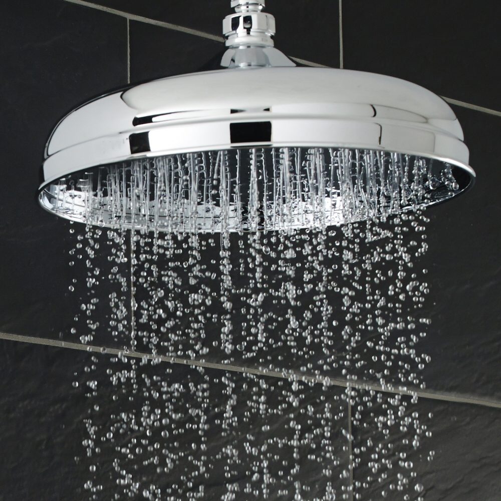 "Hudson Reed 8"" Apron Fixed Shower Head & Arm - Chrome profile large image view 2"