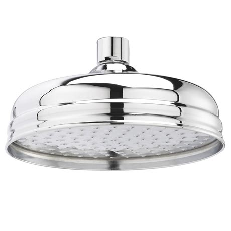 "Hudson Reed 8"" Apron Fixed Shower Head - Chrome - HEAD21"