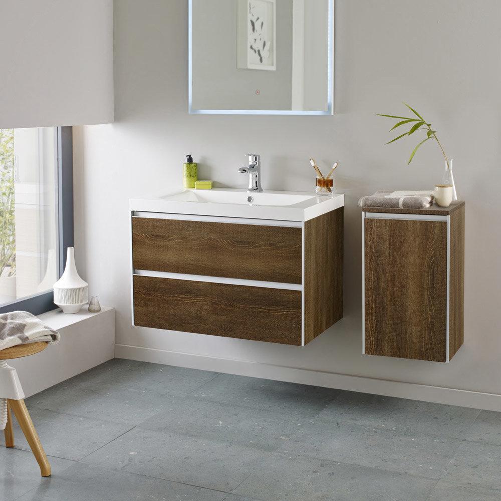 Hudson Reed - Erin 800mm Textured Oak Furniture Pack - FEN007 profile large image view 1