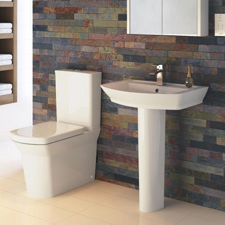 Hudson Reed Alton 4 Piece Bathroom Suite - CC Toilet & 1TH Basin with Pedestal - 3 x Basin Size Options