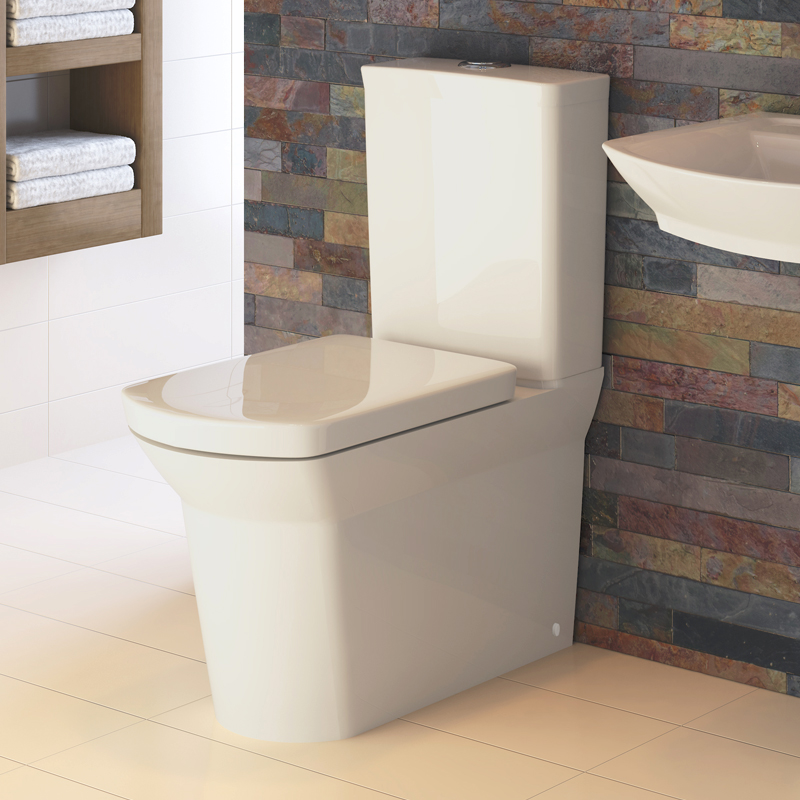 Hudson Reed Alton 4 Piece Bathroom Suite - CC Toilet & 1TH Basin with Semi Pedestal profile large image view 2