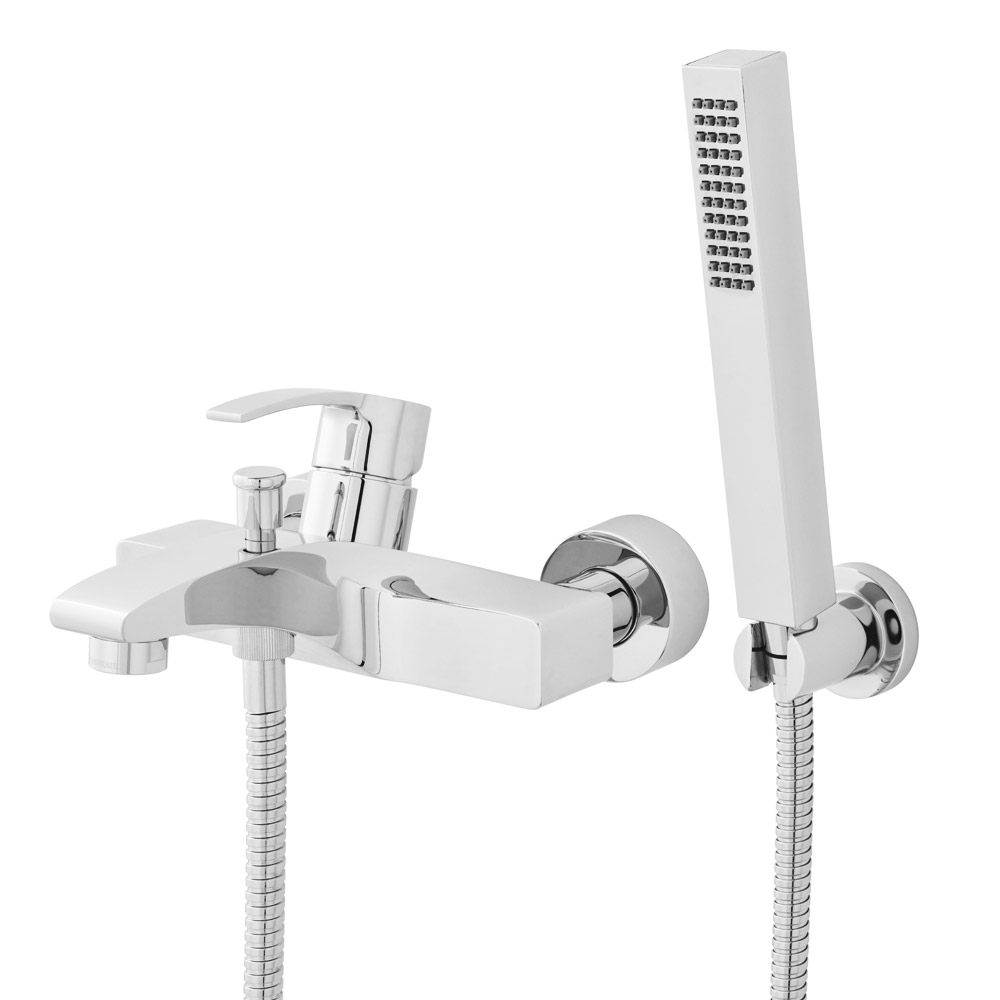 Hudson Reed - Anson Wall or Deck Mounted Bath Shower Mixer with Shower Kit - TSN304 profile large image view 2