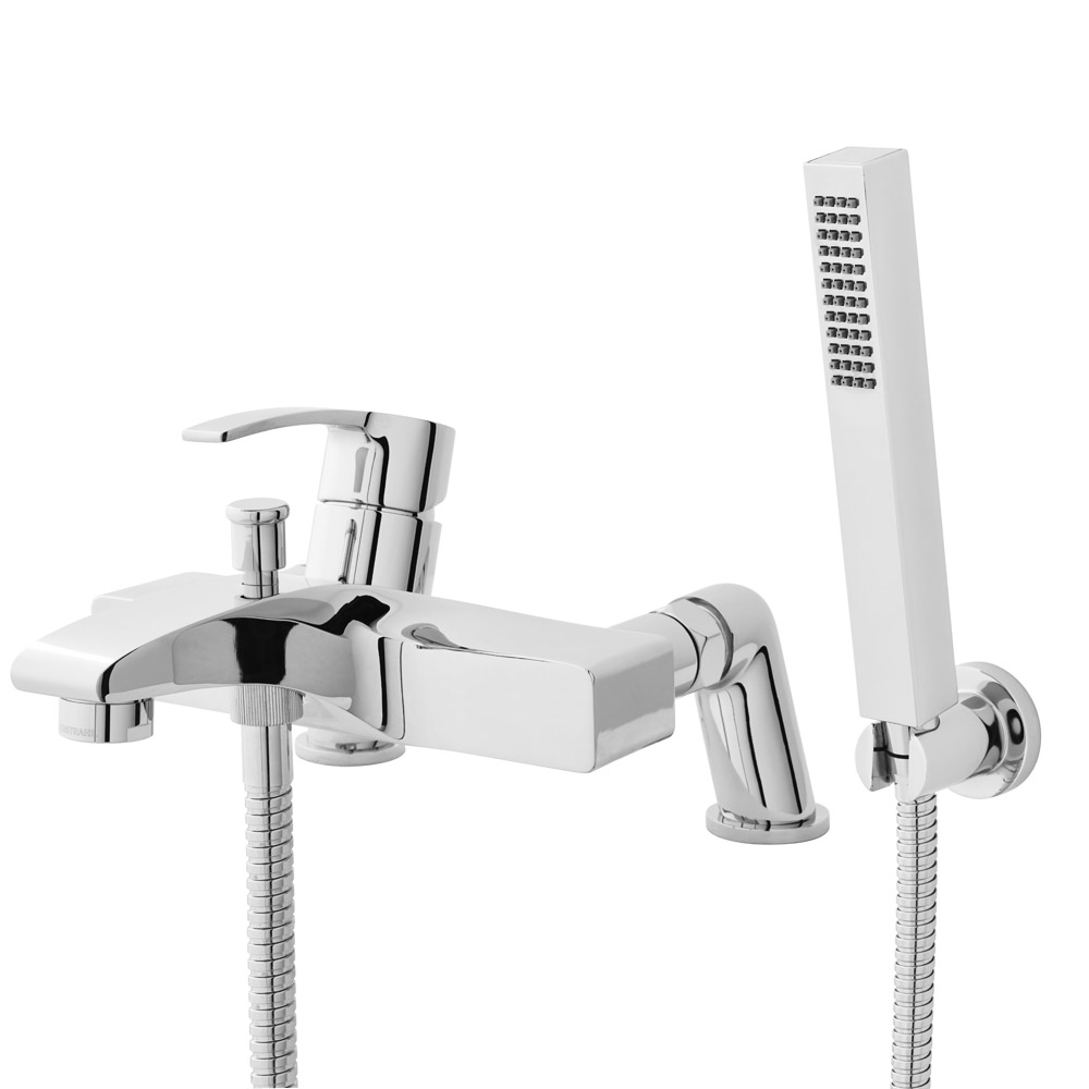 Hudson Reed - Anson Wall or Deck Mounted Bath Shower Mixer with Shower Kit - TSN304 profile large image view 1