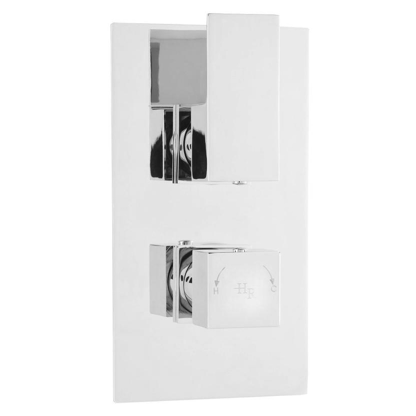 Hudson Reed Art Twin Concealed Thermostatic Shower Valve with Diverter - ART3207 profile large image view 1