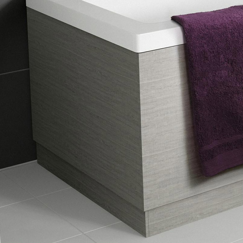 Hudson Reed Blonde Oak End Bath Panel - Various Size Options Large Image
