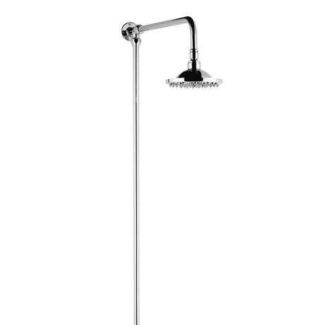 "Hudson Reed Chrome Traditional Rigid Riser with 6"" Shower Rose - A3600"