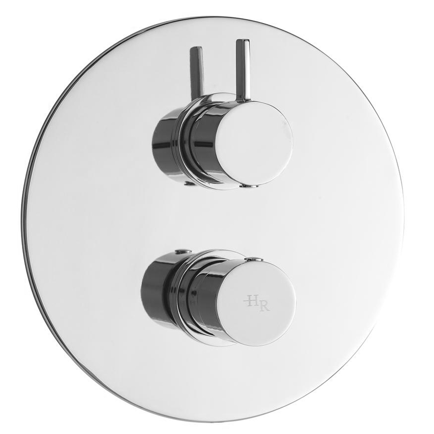Hudson Reed Clio Twin Concealed Thermostatic Shower Valve - A3015 Large Image
