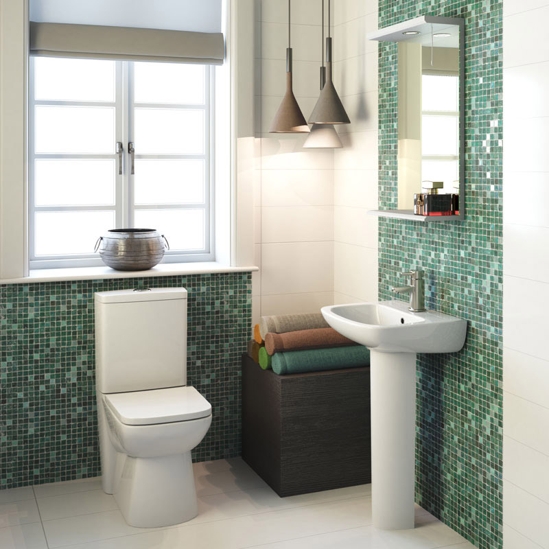 Hudson Reed - Compact Back To Wall Close Coupled Toilet with Top Fix Soft Close Seat - CPC002 Feature Large Image