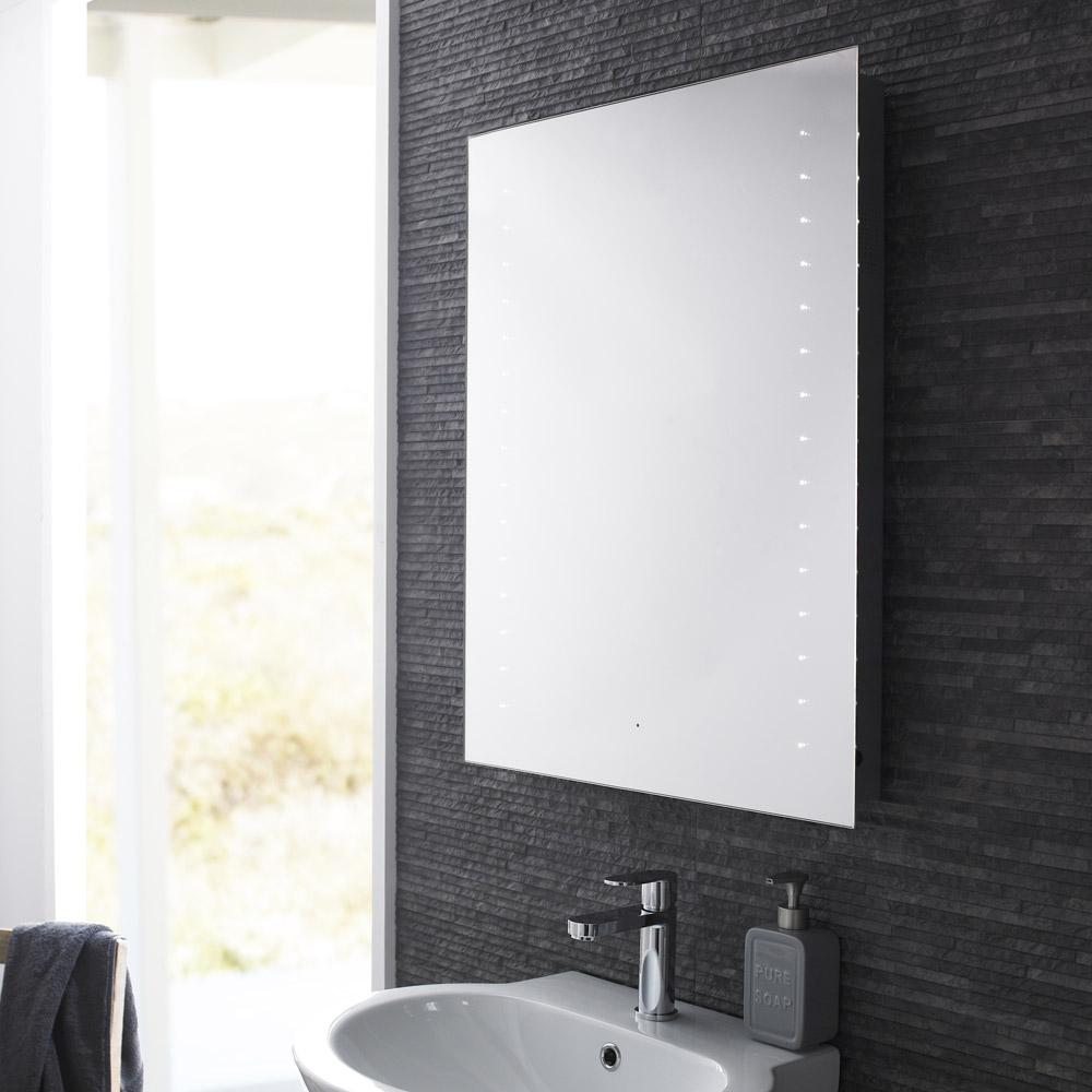 Hudson Reed - Corona LED Motion Sensor Mirror with Bluetooth & Stereo Speakers - LQ060 Profile Large Image