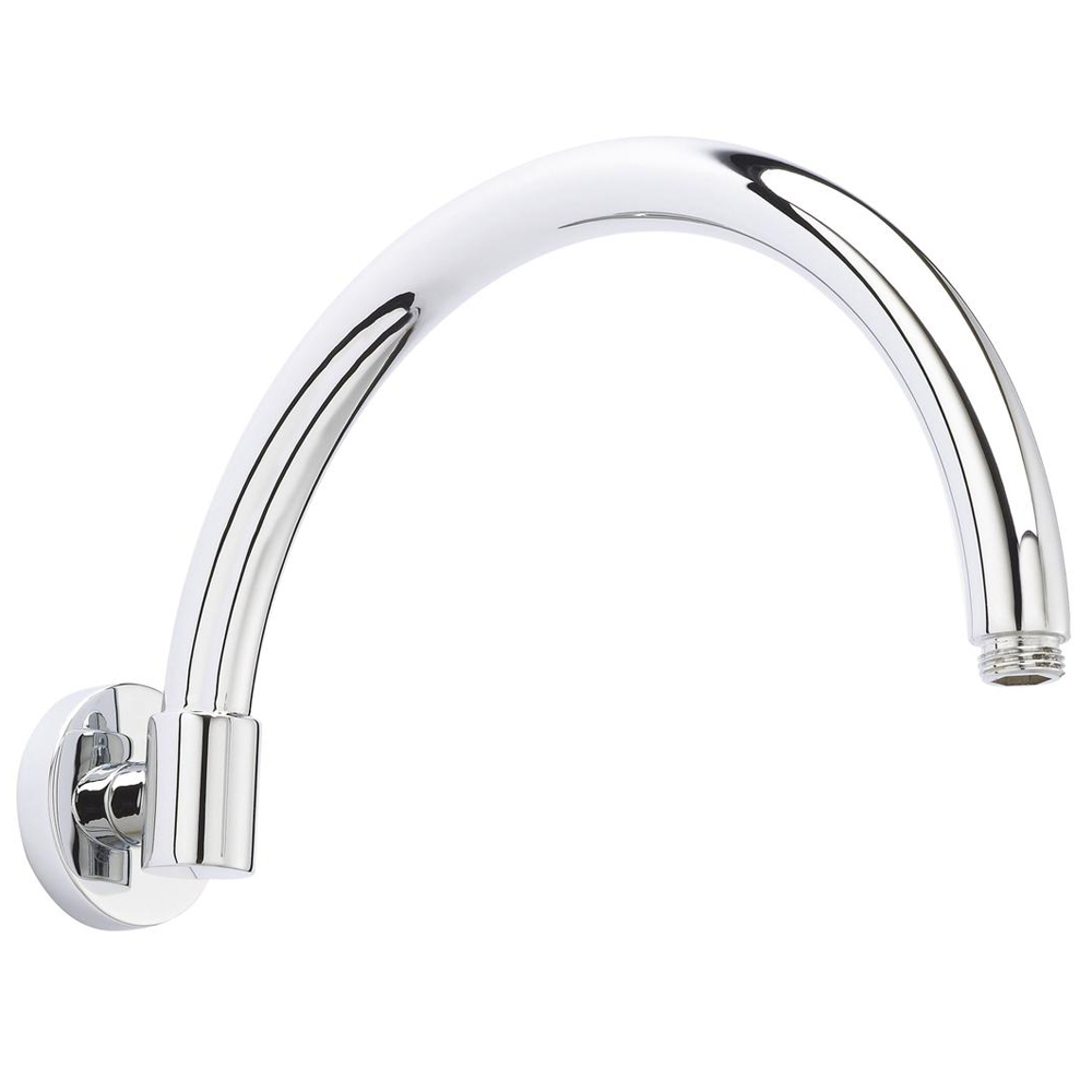 Hudson Reed Curved Wall Mounted Shower Arm - Chrome - ARM06 Large Image