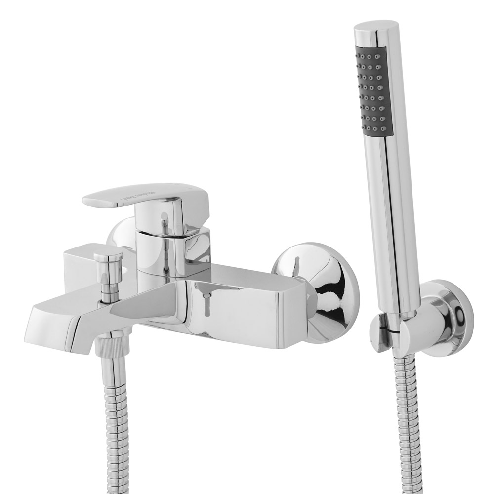 Hudson Reed - Drake Wall Mounted Bath Shower Mixer with Shower Kit - TDK304 Large Image