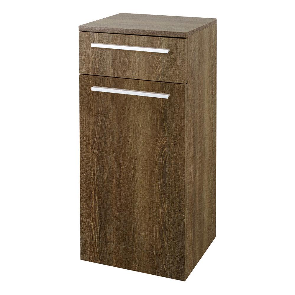 Hudson Reed - Dunbar Textured Oak Storage Cabinet - CAB391 Large Image