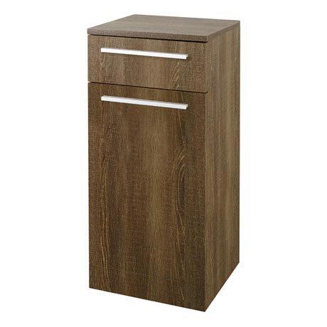 Hudson Reed - Dunbar Textured Oak Storage Cabinet - CAB391
