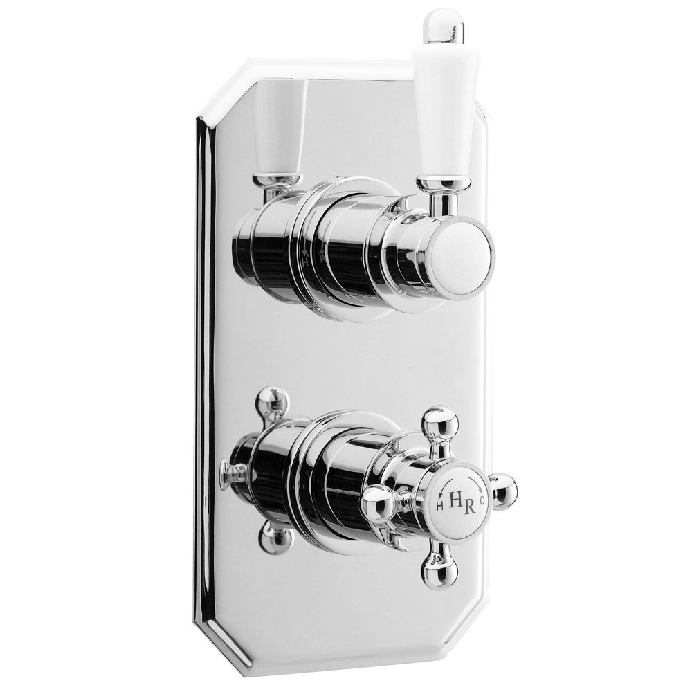 Hudson Reed Edwardian Twin Concealed Thermostatic Shower Valve - A3031C Large Image