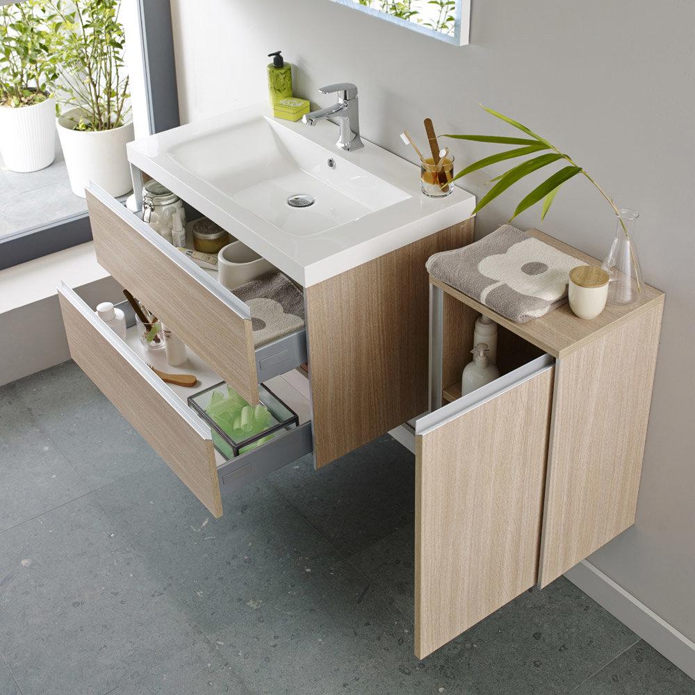 Hudson Reed - Erin 800mm Light Oak Furniture Pack - FEN005 profile large image view 2