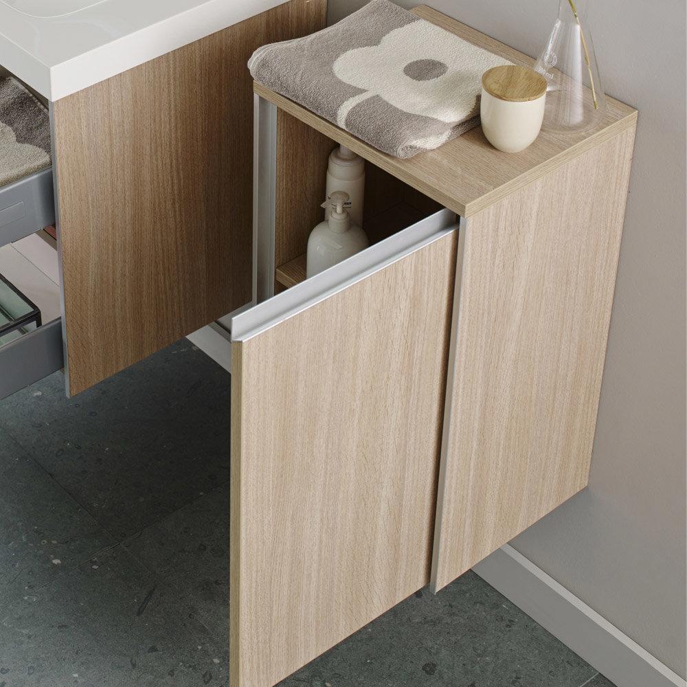 Hudson Reed - Erin Light Oak Side Cabinet - CAB381 profile large image view 2