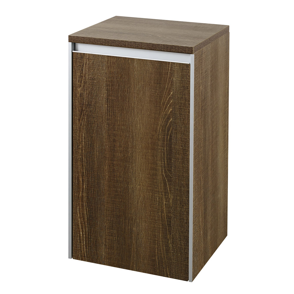 Hudson Reed - Erin Textured Oak Side Cabinet - CAB385 Large Image