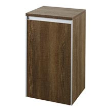 Hudson Reed - Erin Textured Oak Side Cabinet - CAB385 Medium Image