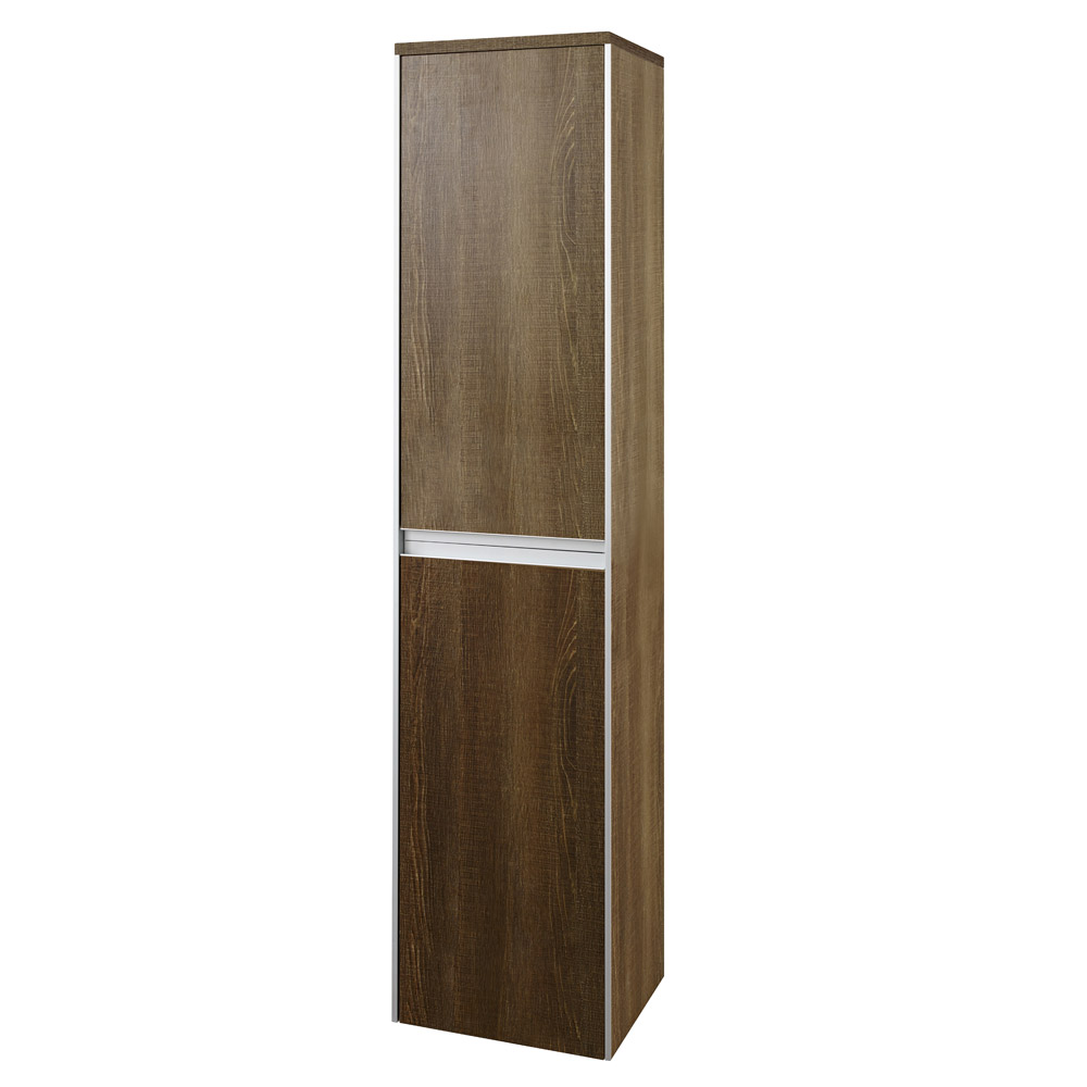 Hudson Reed - Erin Textured Oak Tall Side Cabinet - CAB387 Large Image