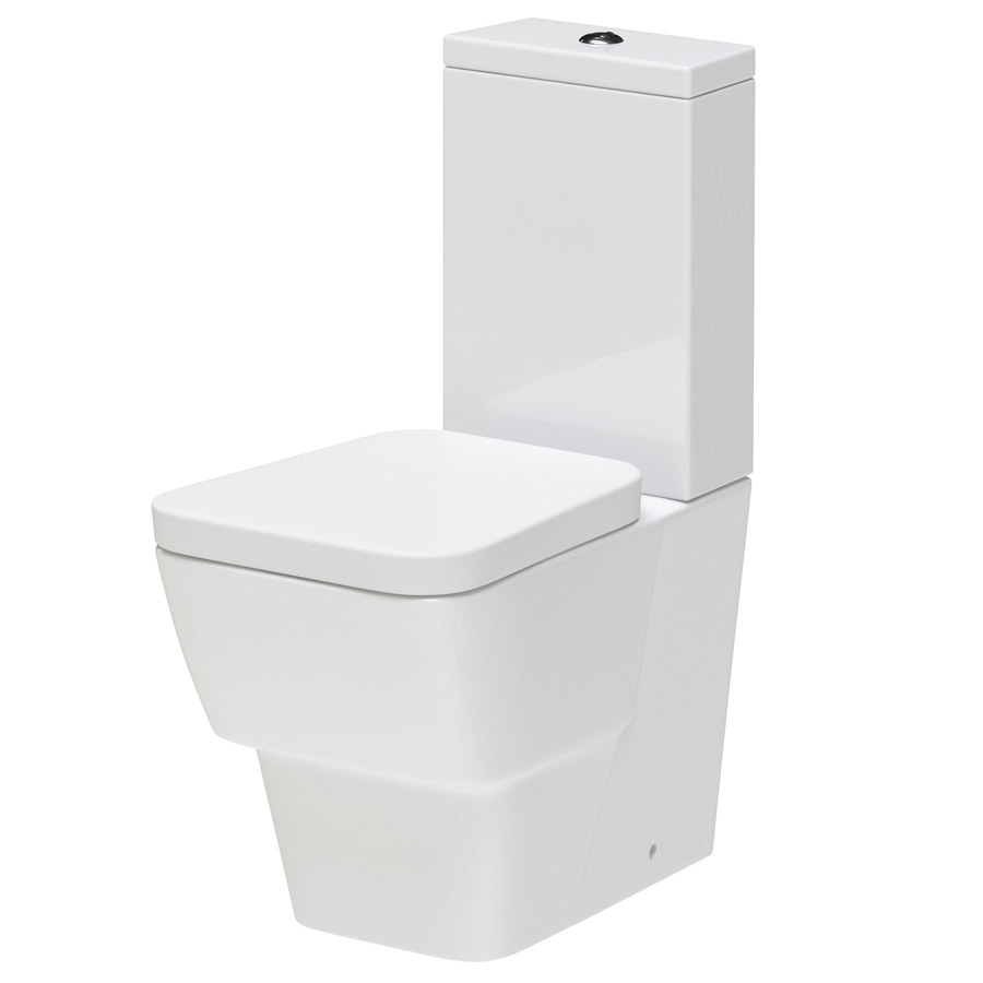 Hudson Reed - Farnham BTW close coupled pan & cistern with soft close seat - CFA003 Large Image