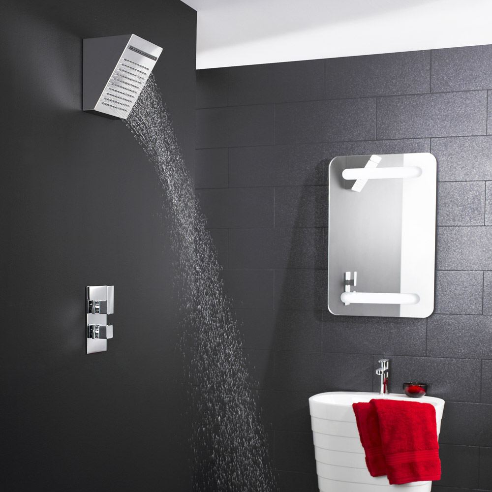 Hudson Reed - Fixed Shower Head with Waterfall - HEAD83 Feature Large Image
