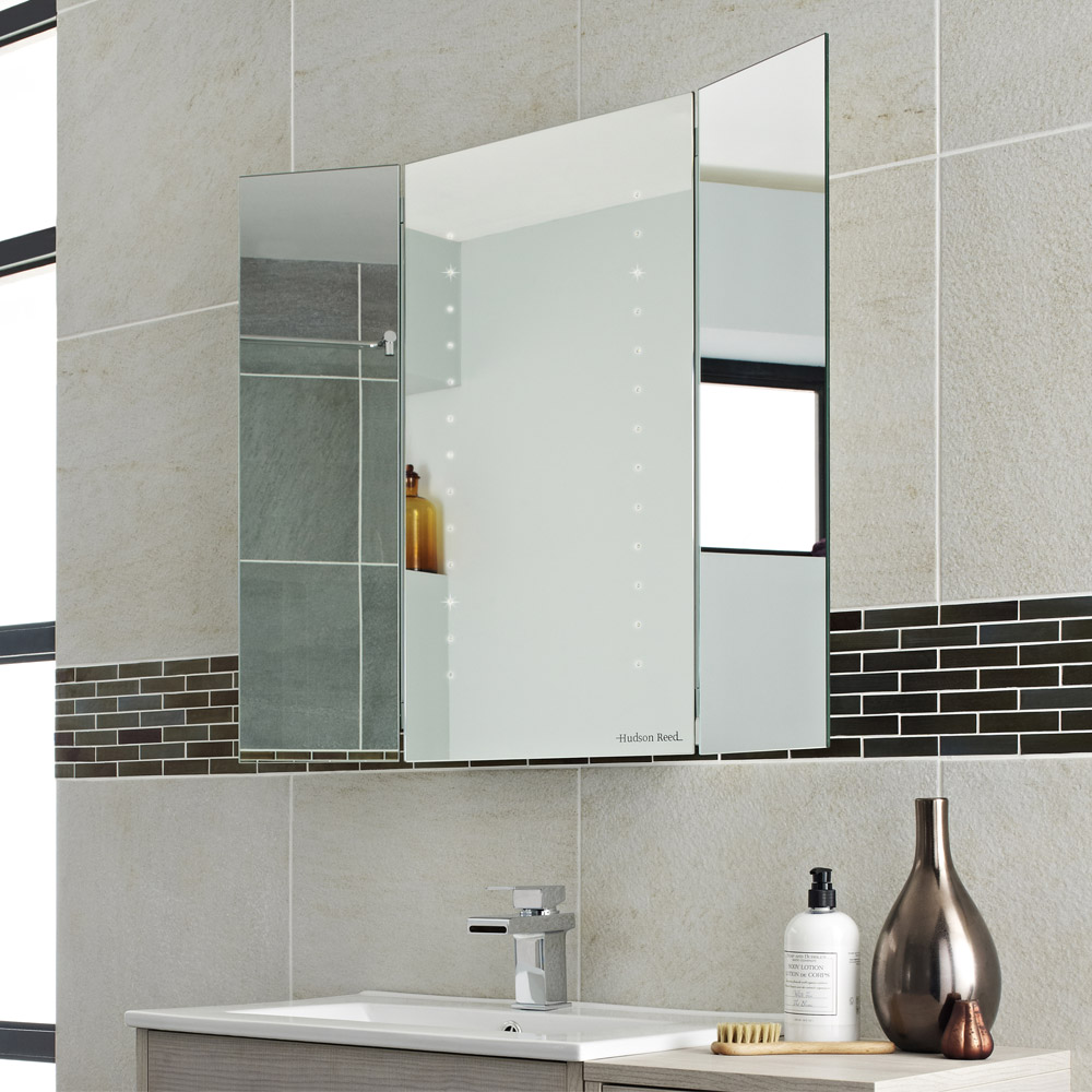 Hudson Reed - Glory LED Motion Sensor Mirror with Adjustable Side Panels - LQ062 profile large image view 2