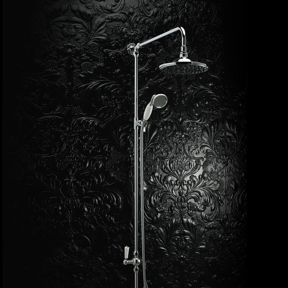 Hudson Reed Grand Rigid Riser Shower Kit with Shower Rose - A3602 profile large image view 2