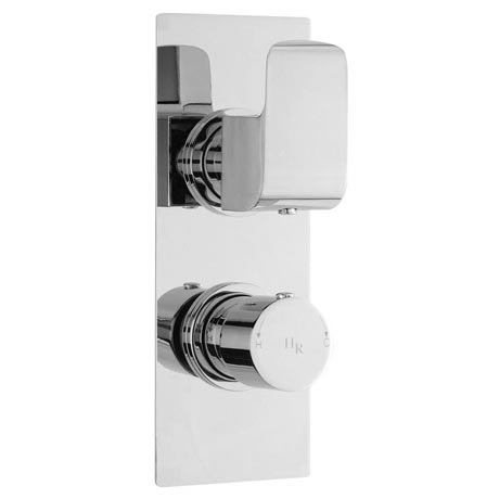 Hudson Reed Hero Twin Concealed Thermostatic Shower Valve with Diverter - Square Plate