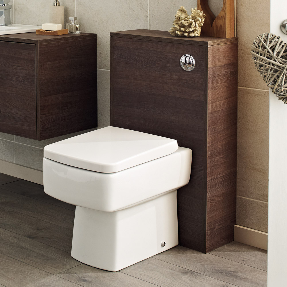 Hudson Reed Horizon 500mm Back to Wall WC Unit Inc. Cistern + Pan - Mid Sawn Oak Feature Large Image