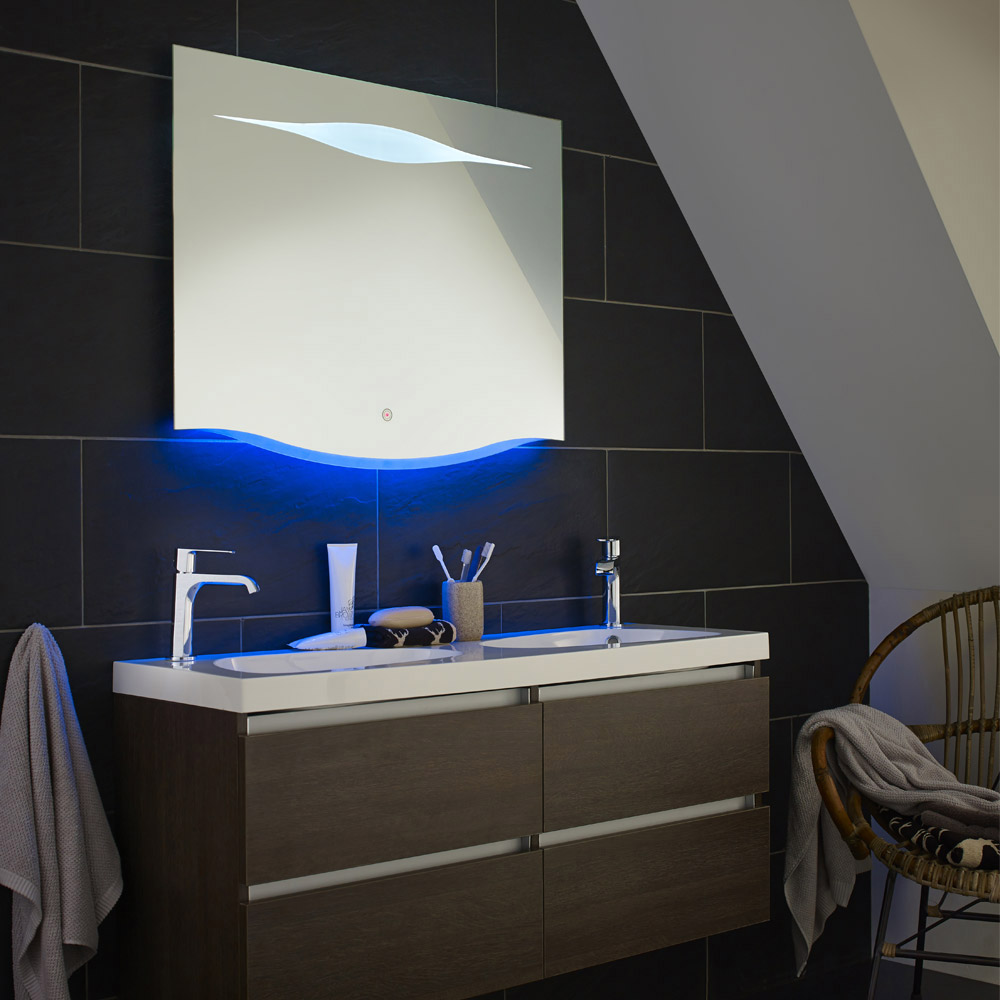 hudson reed iona touch sensor mirror - Bathroom Ideas Lighting