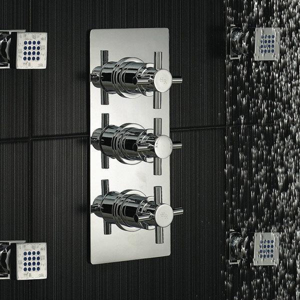 Hudson Reed - Kristal Triple Concealed Thermostatic Shower Valve w Diverter - KRI3023 profile large image view 2
