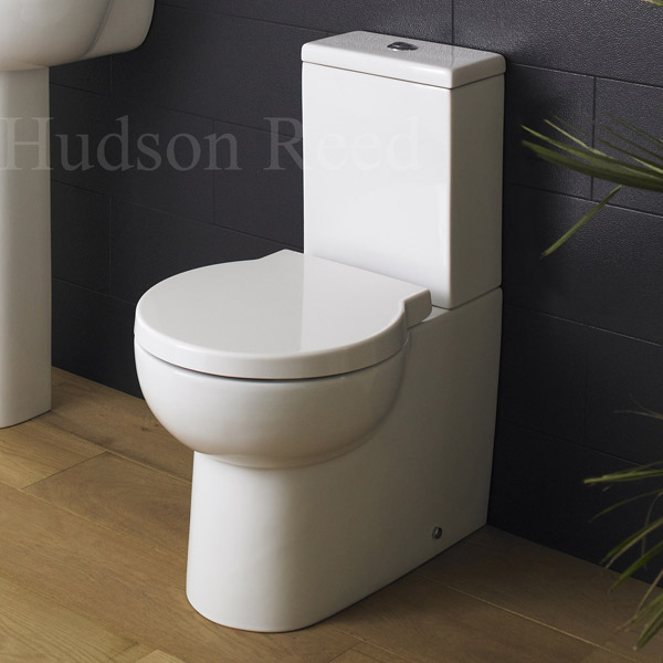 Hudson Reed - Langdon close coupled 'curved profile' BTW pan with cistern & soft close seat profile large image view 2