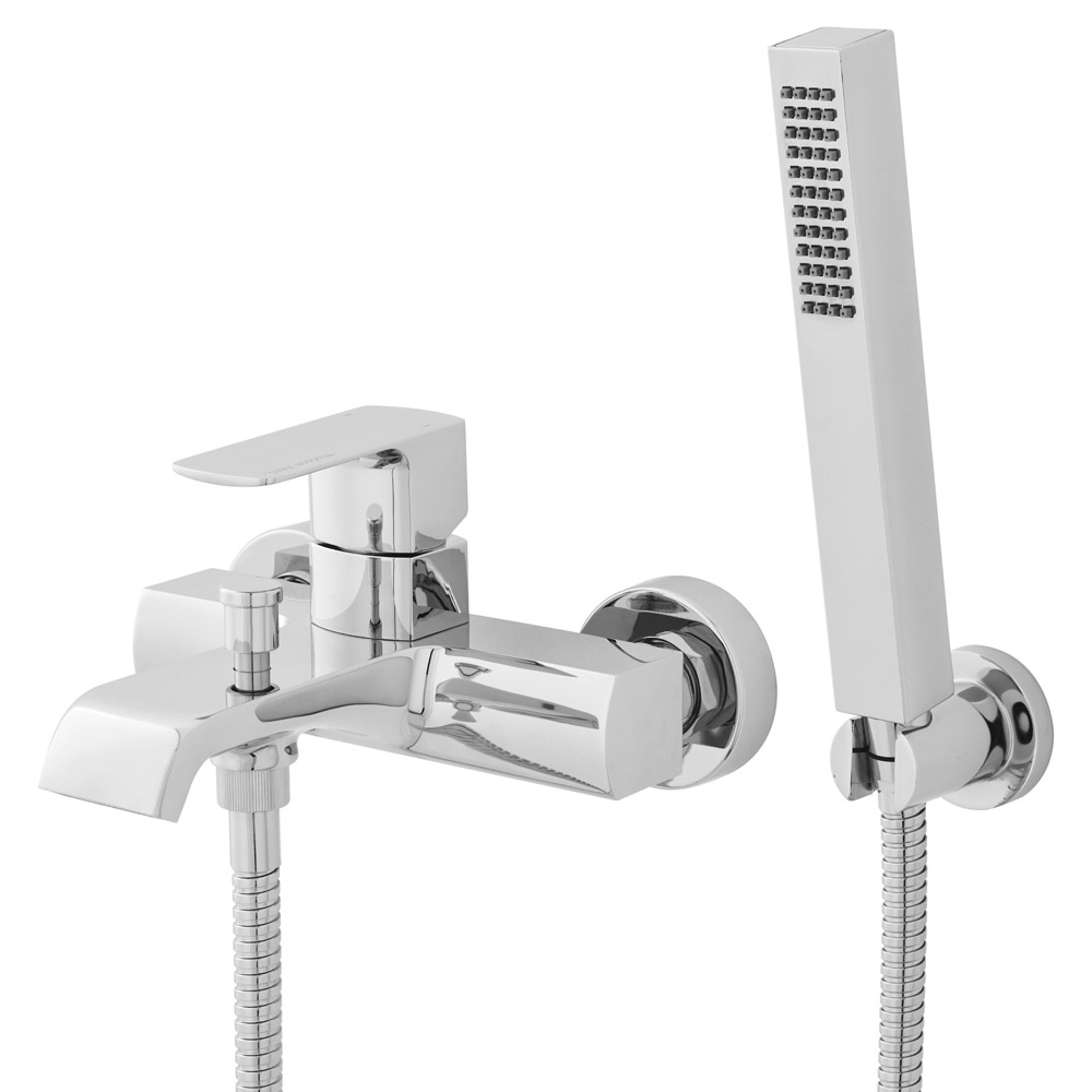 Hudson Reed - Lona Wall or Deck Mounted Bath Shower Mixer with Shower Kit - TLA304 profile large image view 2