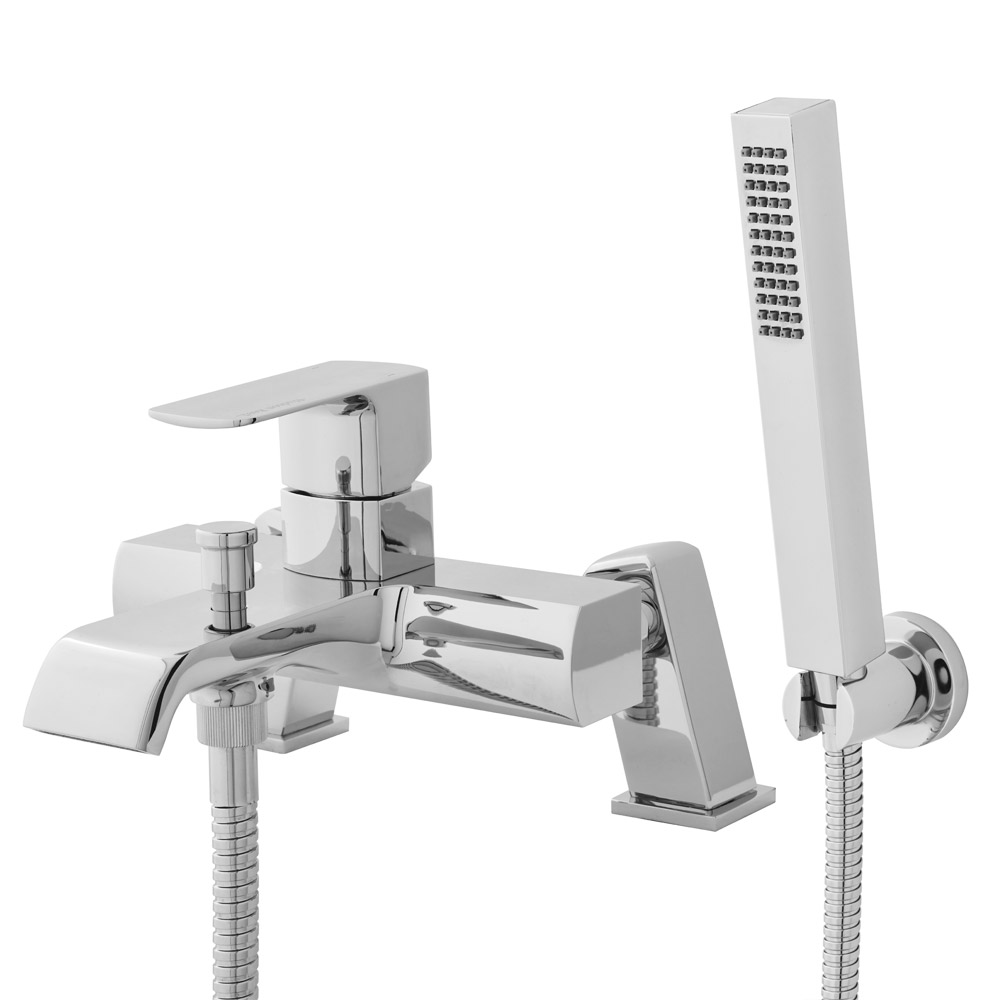 Hudson Reed - Lona Wall or Deck Mounted Bath Shower Mixer with Shower Kit - TLA304 profile large image view 1