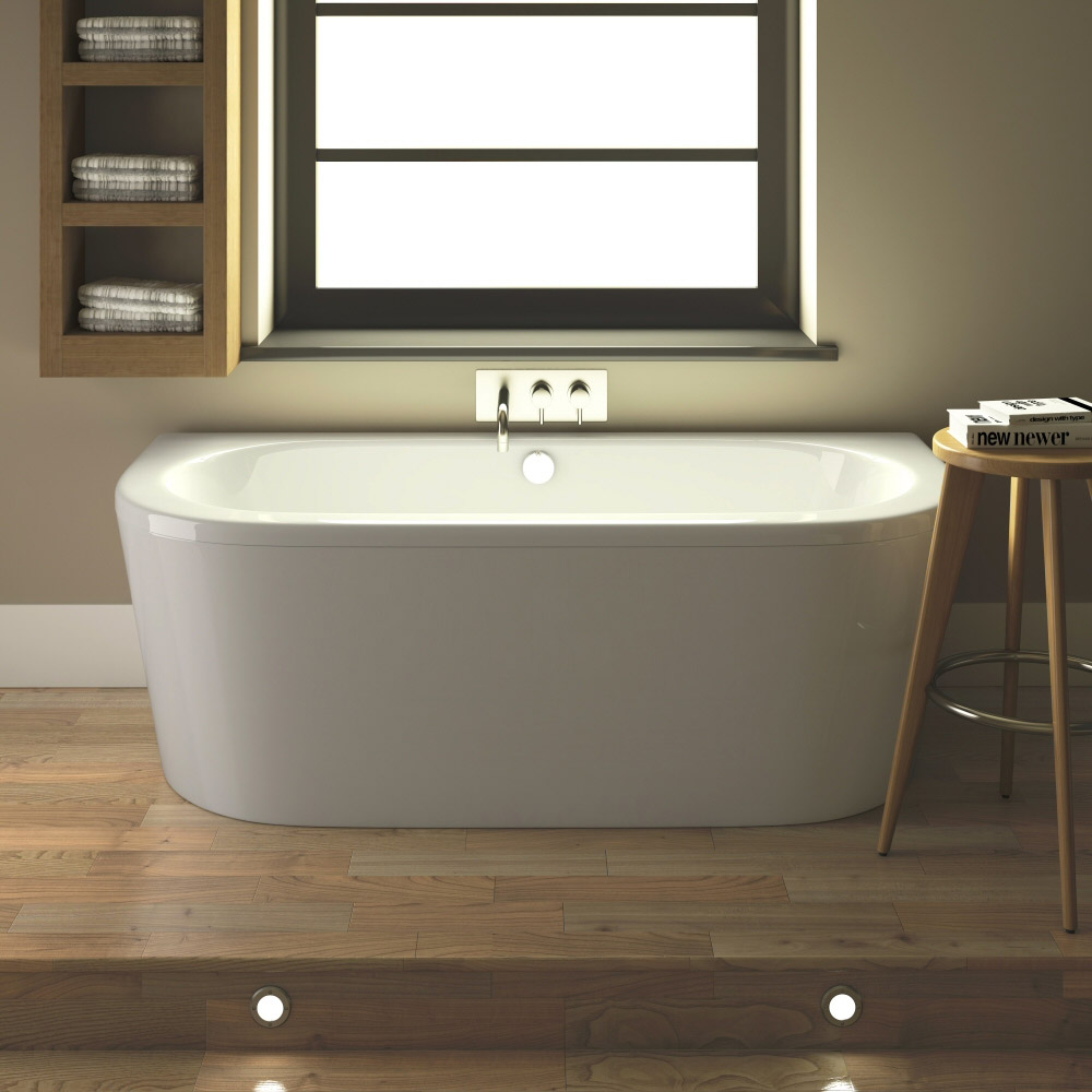 Hudson Reed Ludlow Back To Wall Bath With Front Panel