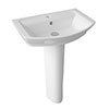 Hudson Reed Maya Basin 1TH + Full Pedestal (3 Size Options) profile small image view 1