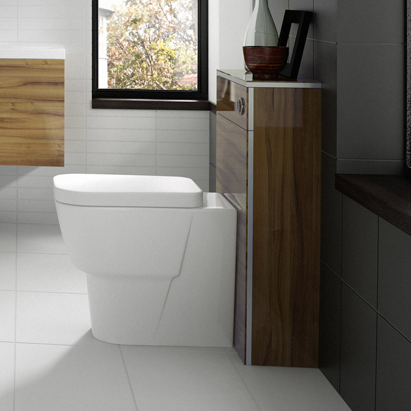 Hudson Reed Memoir BTW Toilet Unit inc Pan and Cistern - Gloss Walnut Feature Large Image