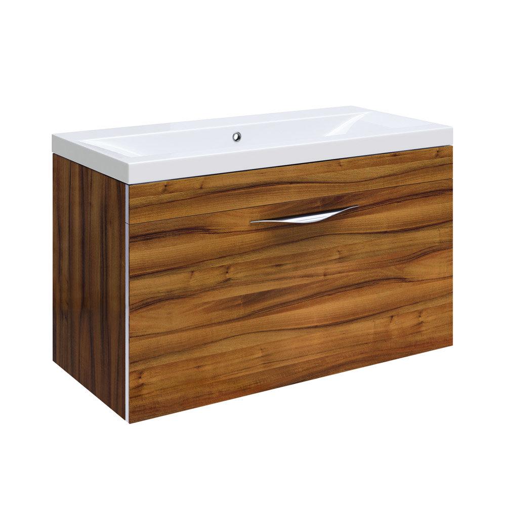 Hudson Reed Memoir Gloss Walnut Bathroom Suite Feature Large Image