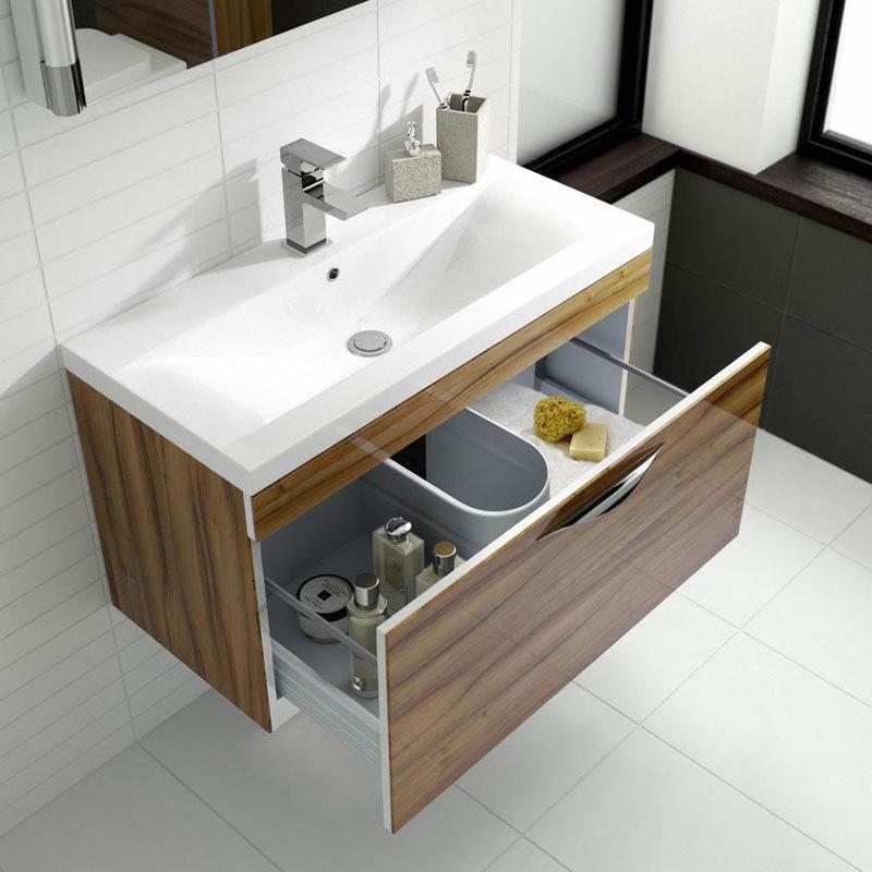 Hudson Reed Memoir Gloss Walnut Bathroom Suite In Bathroom Large Image