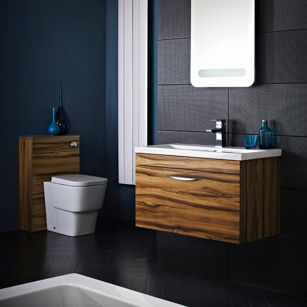 Hudson Reed Memoir Gloss Walnut Bathroom Suite At