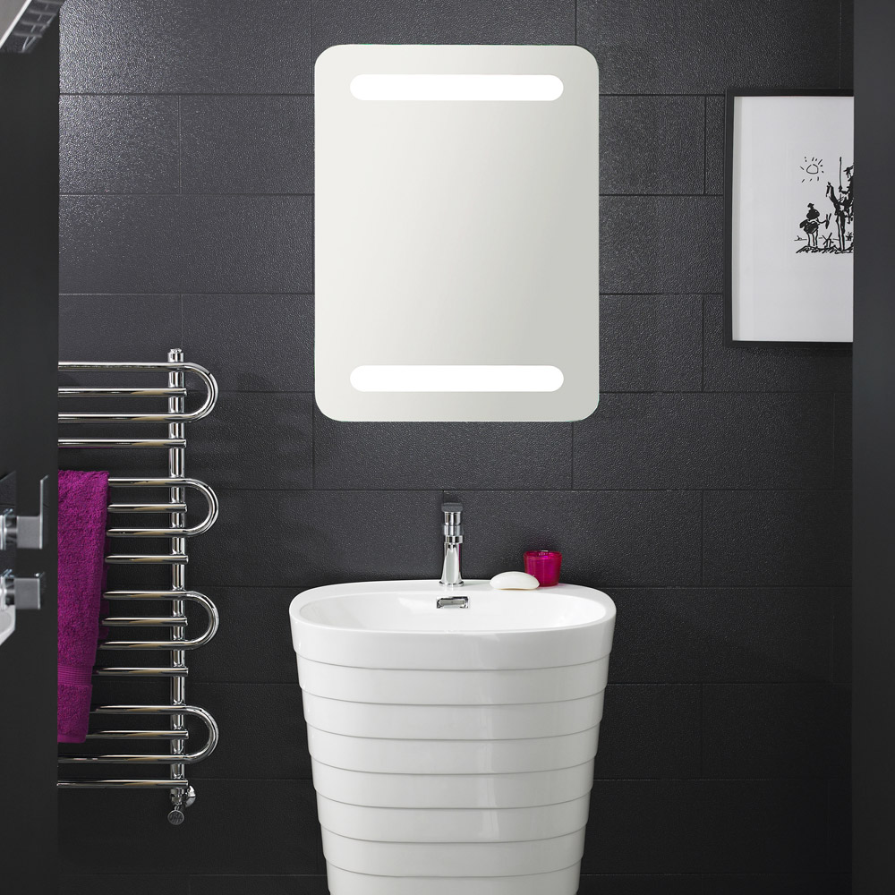 Hudson Reed - Optic Motion Sensor LED Mirror with Ambient Lighting - LQ061 Profile Large Image