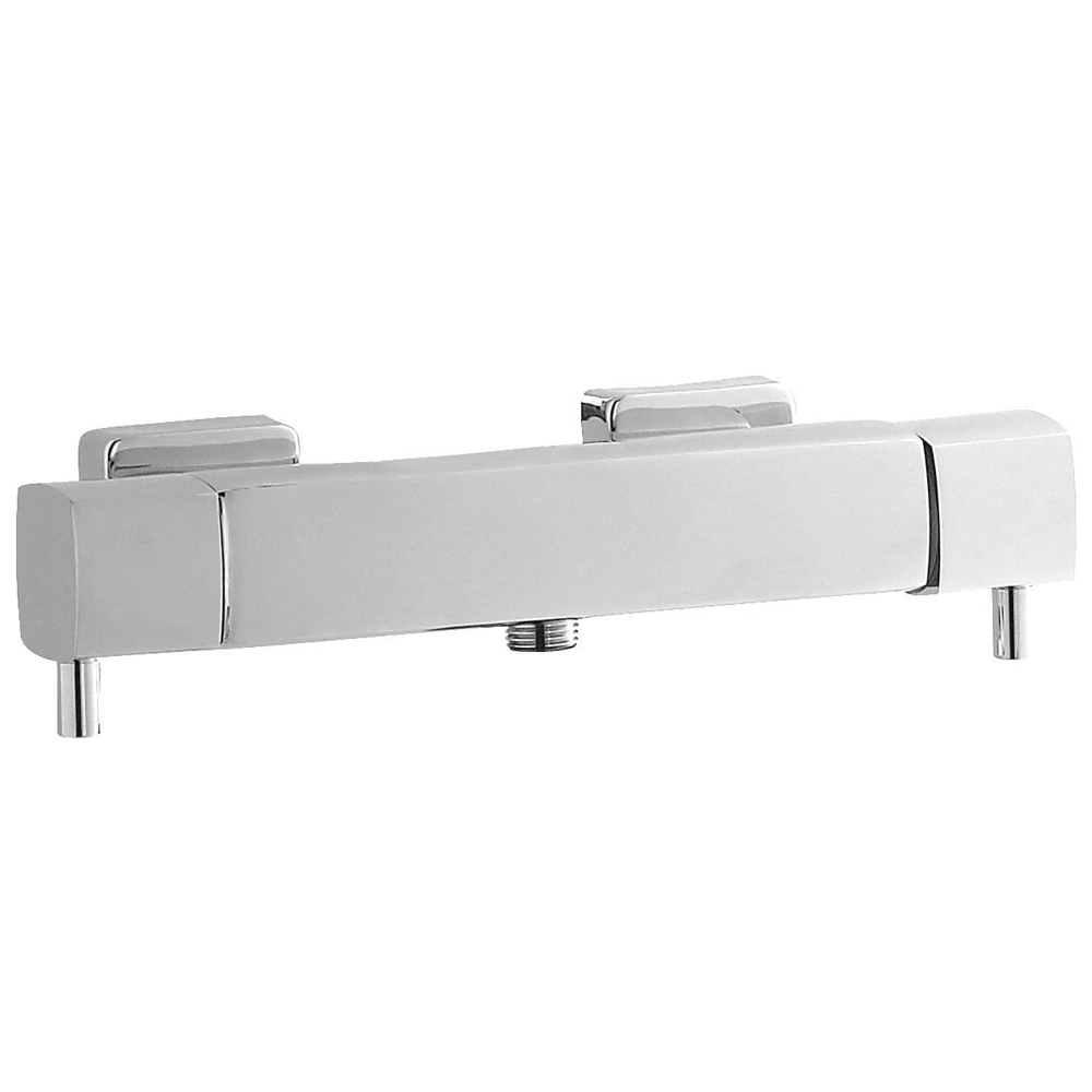 Hudson Reed Quadro Thermostatic Bar Valve (Bottom Outlet) - Chrome - A3503 profile large image view 1
