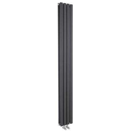 Hudson Reed - Revive Anthracite Designer Radiator - W236 x H1800mm - HRE009